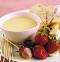 American White Chocolate Fondue Alcohol