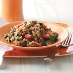 Italian Sausage Risotto with Spinach and Tomatoes Appetizer