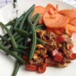 Thai Chicken Curry with Green Beans and Sweet Potato Dessert