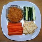 American Hummus from Sundried Tomatoes Without Chickpeas Appetizer