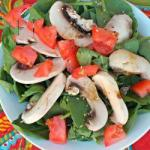French Spinach Salad with Mushrooms Appetizer
