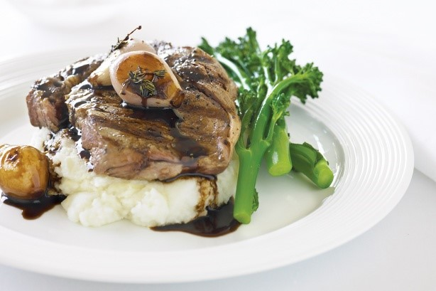 French Beef With Parmesan Mash And Balsamic French Eschalots Recipe Appetizer
