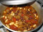 British Beef and Black Bean Chili With Toasted Cumin Crema bobby Flay Dinner