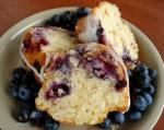 American Blueberry Coffee Cake With Vanilla Glaze Dessert