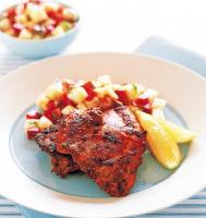 American Cajun Chicken with Bacon and Pineapple Salsa Dinner
