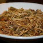 American Chow Mein with Beef and Veal kai Se Min Appetizer