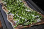American Asparagus Pizza With Lemon Vinaigrette Appetizer