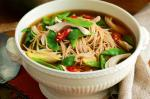 Australian Chicken Pak Choy And Soba Noodle Soup Recipe Dinner