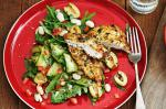 Australian Parmesan Chicken With Minted Zucchini Recipe Dinner