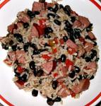 American Black Beans Sausage and Rice Dinner