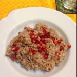 American Risotto with Leeks and Pomegranate Appetizer