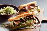 British Treacle Pork Rolls With Brussels Sprout Slaw Recipe Dinner