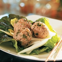 French Sesame Turkey Meatballs Appetizer