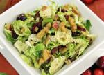 Canadian Warm Shaved Brussels Sprouts Salad with Apples and Cranberries Dessert