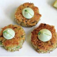 Japanese Japanese-style Crab Cakes Appetizer