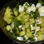 Israeli/Jewish Cucumber Salad with Mint and Feta Appetizer