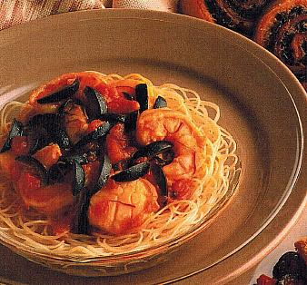 American Linguine With Olive Clam Sauce Dinner