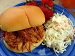 American Easy and Tasty Barbecue Chicken Sandwiches in the Crock Pot Dinner