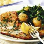 Australian Veal Cutlet with Spinach Potatoes Appetizer