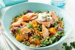 American Baked Salmon And Freekeh Salad With Labne Recipe Appetizer