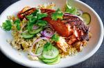 American Tandoori Salmon With Rice And Lentil Pilaf Recipe Appetizer