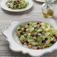 Egyptian Pomegranate and Cucumber Salad Appetizer