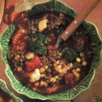 Australian Vegetable Soup with Beef and Veal Appetizer