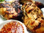 Thai Thaistyle Grilled Chicken W Spicy Sweet and Sour Dipping Sauce Appetizer