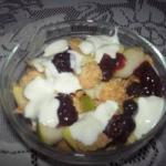American with Muesli Cherries Dessert