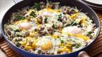 Australian Cheesy Spinach and Egg Hashbrowns Skillet Appetizer