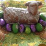 Australian Easter Lammle and Easter Bunny Dessert