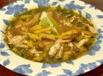 American Yucatan Lime and Chicken Soup Appetizer