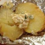 German Potato with Sour Cream Appetizer