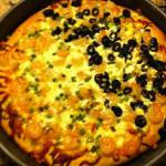 Greek Shrimp and Feta Greek Style Pizza Dinner