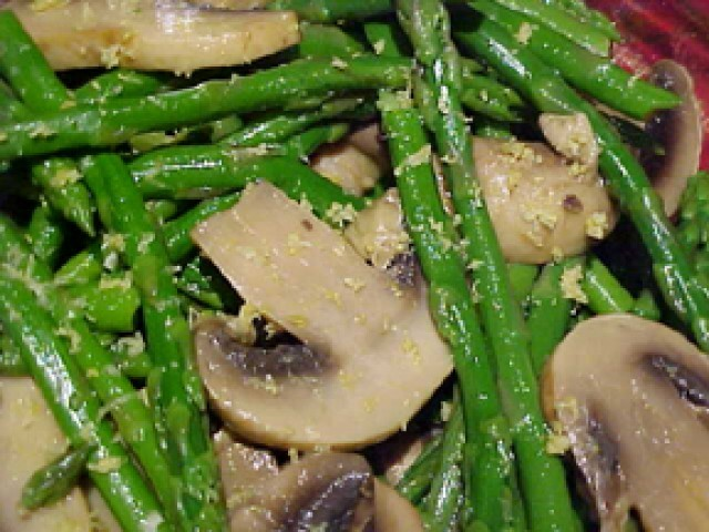 American Marinated Mushrooms And Asparagus Appetizer