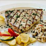 American Grilled Swordfish Steaks with Yucatan Orange-herb Paste BBQ Grill