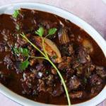French Beef Bourguignon with Shallots Appetizer