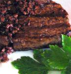 American Fillet Steak Cooked in Red Wine Appetizer