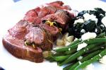 Mini Lamb Roasts With Greens and Feta Recipe recipe