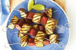 American Eggplant And Chorizo Skewers Recipe Appetizer
