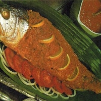 Indian Baked Fish with Creamed Tomato Sauce Appetizer