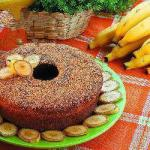 Brazilian Cake of Banana Dessert