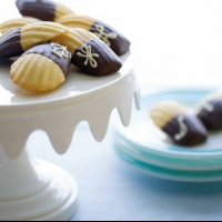 French Chocolate-dipped Madeleines Dessert