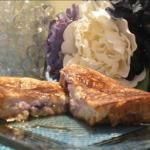French Blueberry and White Chocolate Stuffed French Toast Breakfast