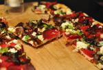 British Beet Caramelized Onions and Goat Cheese Pizza Appetizer