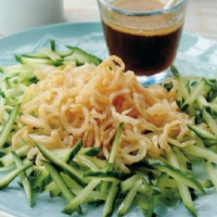 Chinese Jellyfish and Cucumber Salad Appetizer