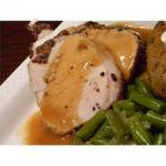 British Roasted Loin of Pork with Pan Gravy Recipe Appetizer