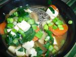 American Soba Soup With Spinach and Tofu Dinner