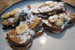 French Chocolate Peanut Butter Banana Stuffed French Toast Dessert