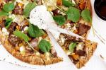Australian Spiced Lamb Pumpkin And Spinach Wholemeal Pizzas Recipe Appetizer